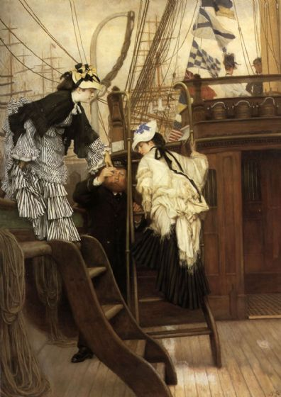 Tissot, James Jacques Joseph: Boarding the Yacht. Fine Art Print/Poster. Sizes: A4/A3/A2/A1 (001636)